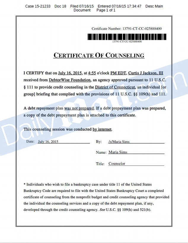 Bankruptcy Law Forms Due 2